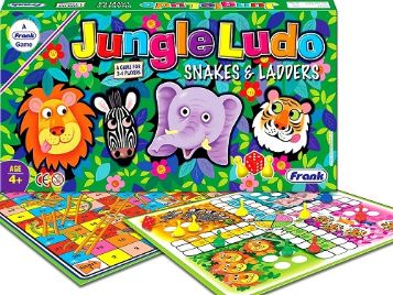 Frank 24102 Games Jungle Ludo and Snakes & Ladders