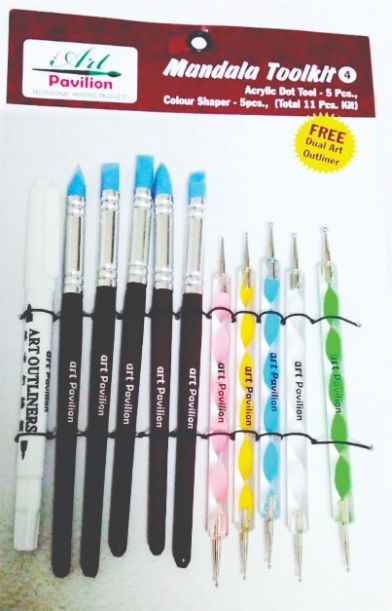 Mandala Tool kit Acrylic Dot tool 5pc Colour Shaper 5pc