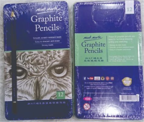 Mont Marte Graphite Pencil Tin pack 12pc