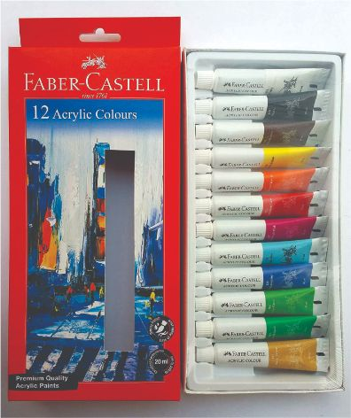 Faber 142012 Acrylic Colour set 20 ml 12 shade