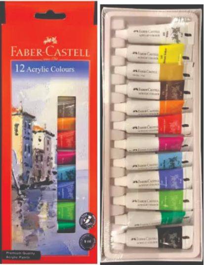 Faber 149012 Acrylic Colour set 9 ml 12 shade
