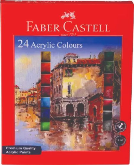 Faber 149024 Acrylic Colour set 9 ml 24 shade