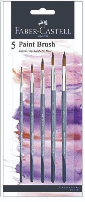 Faber 281855 Round Brush set of 5 Brush Synthetic